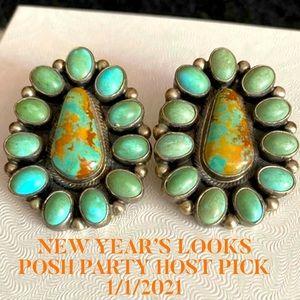 HP💕Vintage Navajo Royston Turquoise .925 Earrings